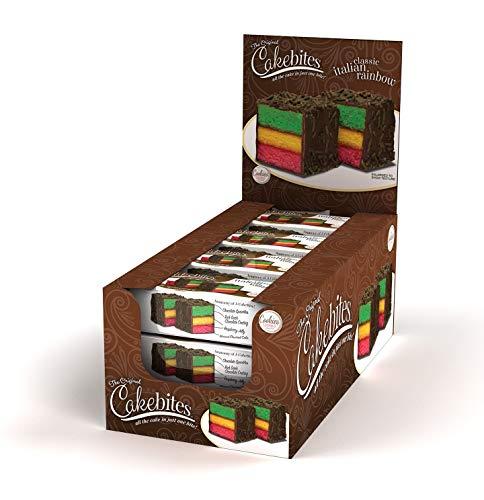 The Original Cakebites Classic Italian Rainbow Cake - 12 count