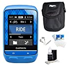 Garmin Edge 510 Cycling Team Garmin Monitor and Sensors GPS with Case Bundle - Includes GPS, Ultra-Compact Digital Camera Deluxe Carrying Case, White Audio Earbuds with Microphone, LCD Screen Protectors, and 3pc. Lens Cleaning Kit