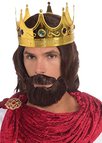 Forum Novelties Women's Royal King Costume Wig Beard and Mustache