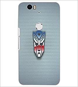 PrintDhaba Mask D-1818 Back Case Cover for HUAWEI NEXUS 6P (Multi-Coloured)