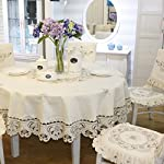 Brown flower embroidered lace dark white cream tablecloths for round tables multi sizes available