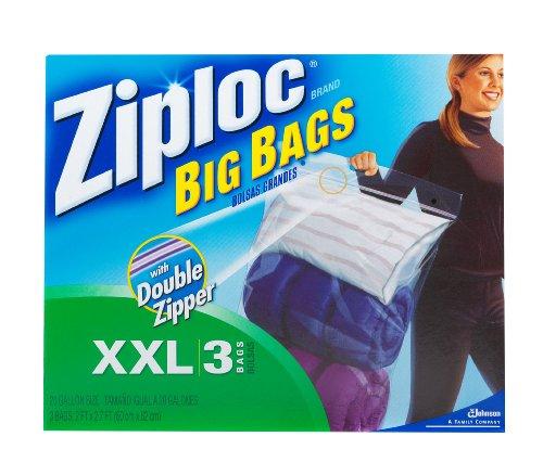 Ziploc Big Bag Double Zipper, XX-Large, 3-Count