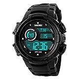 Gosasa Alarm Date Clock Student Watches LED Digital Waterproof Sport Wristwatch Electronic Climbing Black Watch Boys Gift