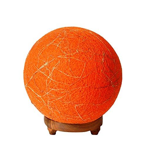 Salebrations Ball Table Lamp Shades Yarn With Banana Fiber And Wooden Base