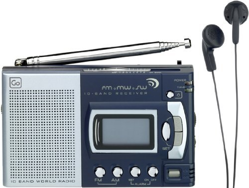 Design Go Am Fm World Shortwave Radio 10 Band Receiver & Alarm Clock