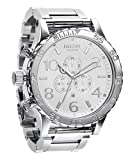 Nixon 51-30 Chrono Watch - Men's High Polish/White, One Size