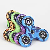 My Party Suppliers Fidget Spinner, Tri-Spinner, Hand Spinner Focus Toy For Autism/ADHD/Anti Stress Anxiety Toys Long Running Time (Random Printed Designs)
