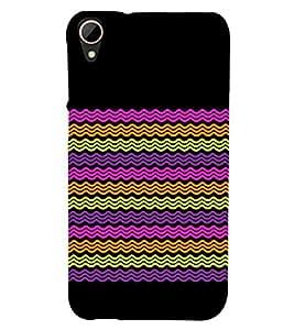 Wave Pattern Design Cute Fashion 3D Hard Polycarbonate Designer Back Case Cover for HTC Desire 828 Dual Sim