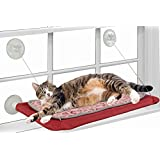 Window Mounted Cat Bed , Cat Seat with Industrial Suction Cups and Removeable Cushion