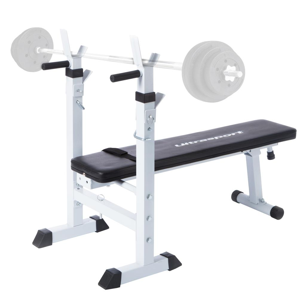 Ultrasport fold up weight lifting bodybuilding bench multi use gym equipment ebay Weight set and bench