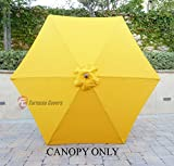 9ft Umbrella Replacement Canopy 6 Ribs in Golden Yellow (Canopy Only)