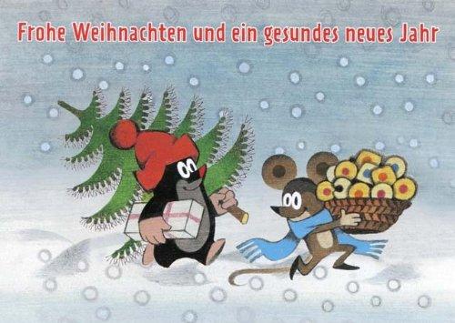 weihnachtspostkarte maulwurf mit lustigen spr chen frohe. Black Bedroom Furniture Sets. Home Design Ideas