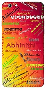 Abhinithi (Popular Girl Name) Name & Sign Printed All over customize & Personalized!! Protective back cover for your Smart Phone : Samsung Galaxy Note-5