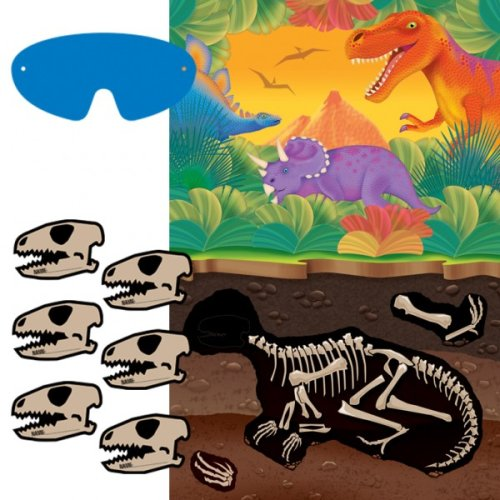 "Amscan Dashing Prehistoric/Dinosaur Party Game Kit Birthday Party Favors, 37-1/2 x 24-1/2"", Multicolored - 1"