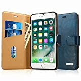 Labato iPhone 7 ケース 手帳型 本革レザー アイフォン7カバー TPU 財布型 スタンド機能 カードポケット 手作り ハンドメイド 耐摩擦 耐汚れ 全面保護 フリップ 人気 全四色 (ブルー lbt-IP7-01Z46)