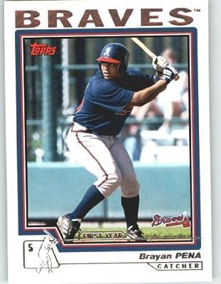 2004 Topps Baseball Card # 300 Brayan Pena FY RC (Rookie Card) Atlanta Braves - MLB Trading Card