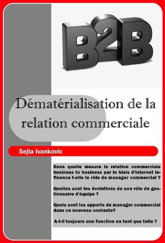 Couverture du livre Dématérialisation de la Relation Commerciale