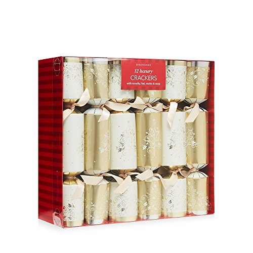 debenhams-set-of-12-gold-christmas-tree-print-luxury-christmas-crackers