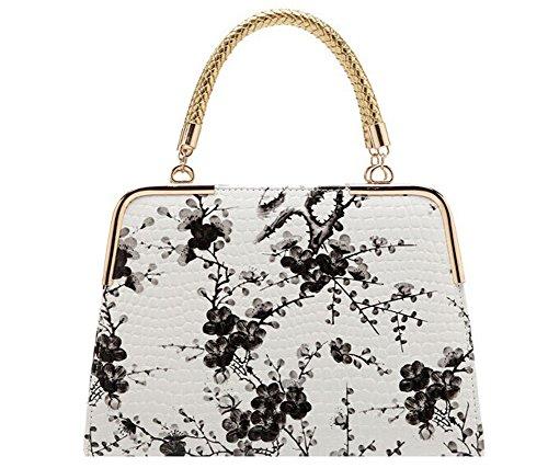 Fashion Pu Leather Clutch Cross-Body Shoulder Wristlet Handbag For Women 0315732 (Black)