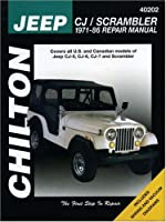 Jeep CJ/Scrambler, 1971-86 (Chilton's Total Car Care Repair Manuals) from Cengage Learning