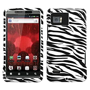 Design Hard Protector Skin Cover Cell Phone Case for Motorola Droid Bionic XT875 Verizon - Zebra
