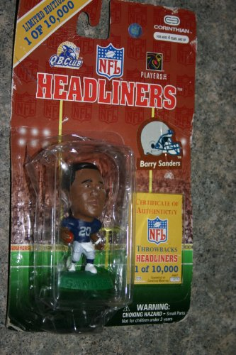 1997 Corinthian NFL Headliners Limited Edition Throwbacks Headliners - Barry Sanders - Detroit Lions