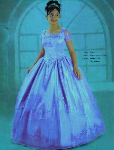 Araceli Quinceanera #4003 Sky Blue Size 10 Formal Dress Debutante Prom Ball Gown