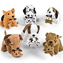 Fun Express Plush Dogs Holding Puppies (1 Dozen)