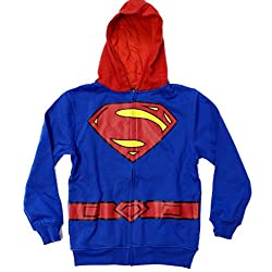 Superman Man of Steel Logo Child Costume Hoodie