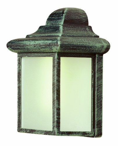 Trans Globe Lighting 44835PL WH 8-3/4-Inch 1-Light Outdoor Mini Wall Lantern, White