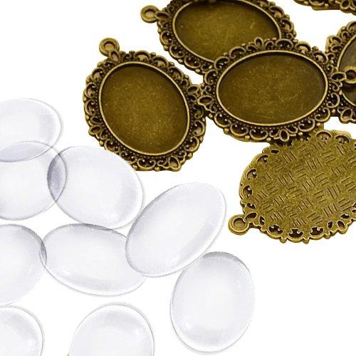 pandahall-lot-de-10kits-supports-pendentifs-cabochons-en-verre-transparents-domes-rond-plat-sans-cad