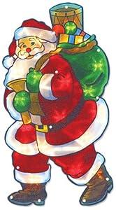 The Benross Christmas Workshop LED Santa Metallic Silhouette Light