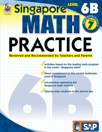 Singapore Math Practice Supplemental Workbook, Level 6B