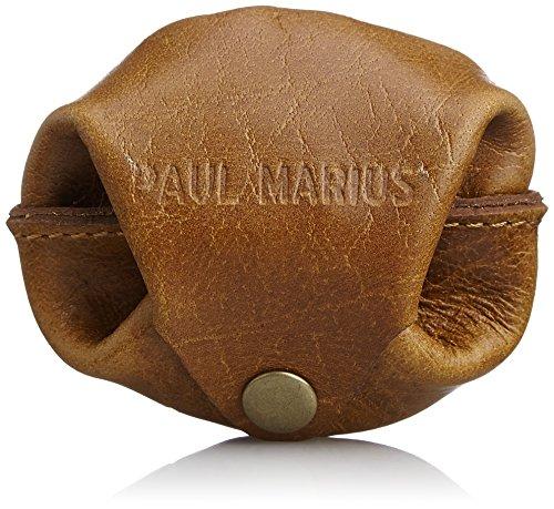 [ポール・マリウス] PAUL MARIUS 本革 スナップボタン小銭入れ 小袋コインケース ESC-7 BR (ブラウン)