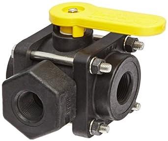 Válvula de bola V200SL Polipropileno Side carga, de tres piezas, de