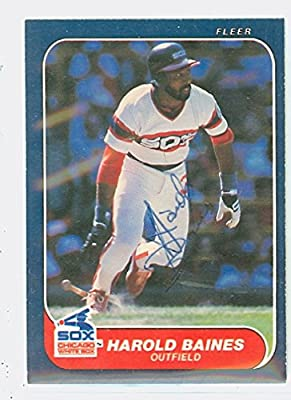 Harold Baines AUTOGRAPH 1986 Fleer Chicago White Sox