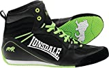 Lonsdale Boy's Typhoon Low Boot - Black/Lime, Size 40