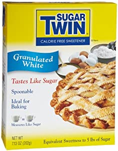 Sugar Twin Spoonable, Granulated White, 7.13-Ounce Boxes (Pack of 12)