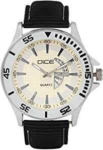 "Dice ""Doubler 3102"" Chrono Dial face Watch for Men with Cream Color Dial and Anti Allergic Woven Strap"