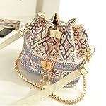 Women Retro Vintage Boho Ikat Bucket...