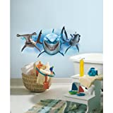 RoomMates RMK2558GM Finding Nemo Sharks Peel and Stick Giant Wall Decals