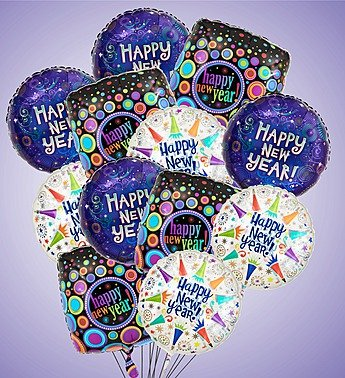 1-800-Flowers – Air-Rangement – Happy New Year Mylar Balloons – Large By…