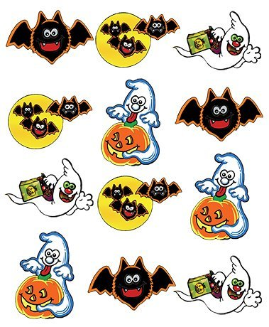 PRE-CUT HALLOWEEN GHOST & BAT MIX EDIBLE RICE / WAFER PAPER CUP CAKE TOPPERS BIRTHDAY PARTY WEDDING DECORATION (Halloween Cupcakes Decorations Uk)
