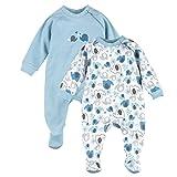 BORNINO Schlafoverall im 2er Pack Baby-Nachtwäsche Baby-Schlafanzug