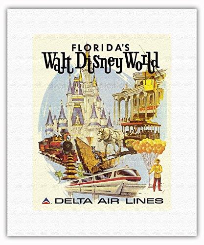 walt-disney-world-en-floride-premiere-annee-de-fonctionnement-delta-air-lines-affiche-ancienne-vinta