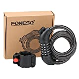 Foneso 自転車ロック バイク用ロック ケーブルロック ロック ダイヤルロック 盗難防止用ロック コンボワイヤロック ランキングお取り寄せ