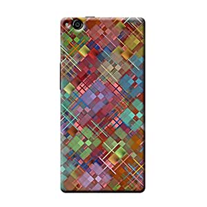 Garmor Abstract Design Plastic Backcover for Gionee Elife E6- (Txt 2)