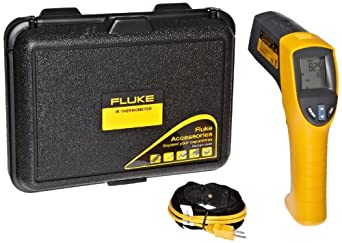 Fluke 561 HVAC Pro Infrared Thermometer, 2 AA Battery, -40 to +1022 Degree F Range