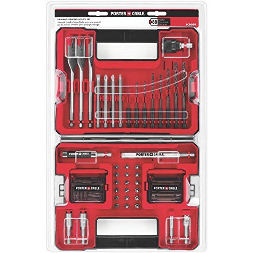 PORTER-CABLE PCDD88 88-Piece Drilling and Driving Accessory Set (Drill Porter Cable compare prices)