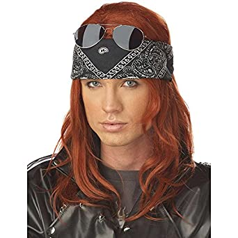 California Costumes Men's Hollywood Rocker Wig,Auburn,One Size
